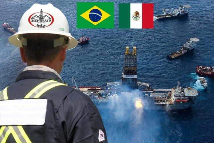 Brasileiros Golgo do México petróleo offshore empresas