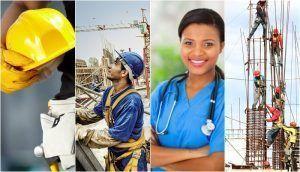 Engenharia Construção Civil Técnico de Segurança do Trabalho Enfermagem Obras