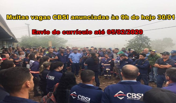 Vagas na CBSI para ajudantes, maçariqueiros, operadores e muito mais profissionais até o dia 05 de fevereiro