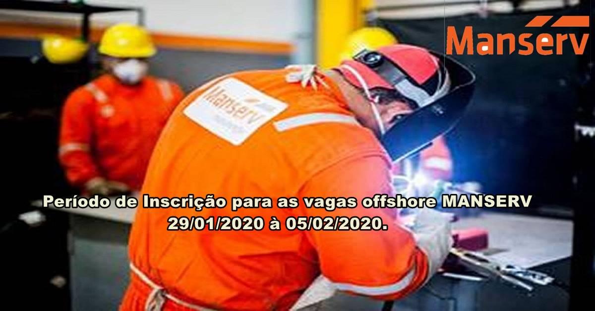 Manserv anuncia vagas de emprego às 13h de hoje para trabalhar offshore em Macaé