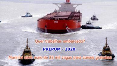 PREPOM 2020 Marinha abre 23 mil vagas em cursos gratuitos de qualificação e aprimoramento na área offshore em todo o Brasil