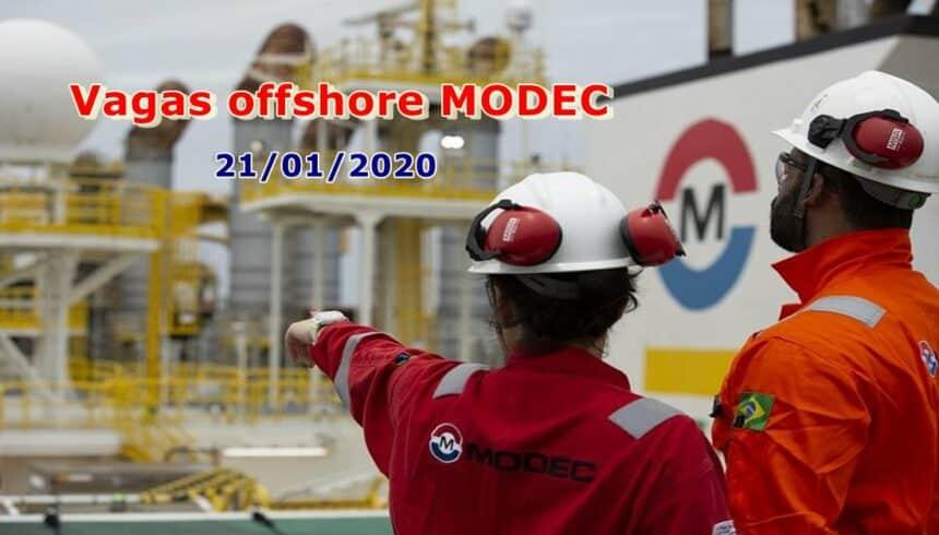 Novo processo seletivo, vagas offshore aberto hoje pela gigante do petróleo MODEC