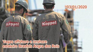 vagas de emprego offshore e onshore estaleiro Brasfels