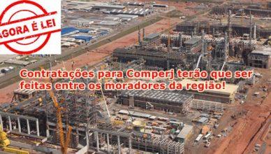 3500 vagas de emprego para o Comperj terão que ser feitas entre moradores da região
