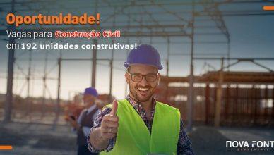 Muitas vagas abertas na construção civil para trabalhar em 192 unidades construtivas no RJ