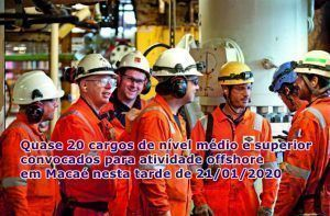 Para atender novos contratos em Macaé, Engeman anuncia às 14h30 grande processo seletivo de vagas offshore