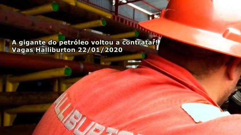 Halliburton inicia novo processo seletivo, as vagas hoje são para auxiliares de manutenção