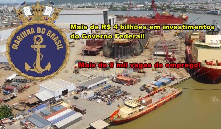Itajaí, em Santa Catarina concentrará indústria de construção naval brasileira militar do Brasil