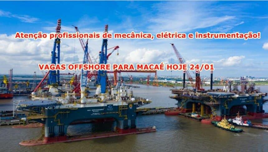 Vagas offshore para profissionais de mecânica, elétrica e instrumentação em Macaé