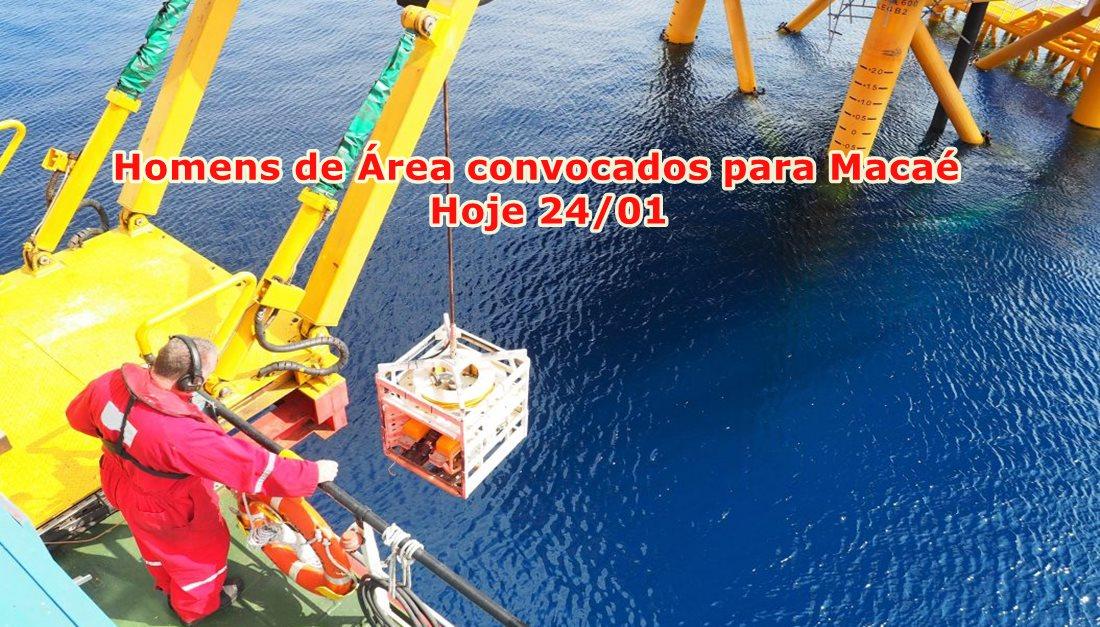 Recrutamento e seleção offshore em Macaé com 10 vagas de emprego para Homem de Área