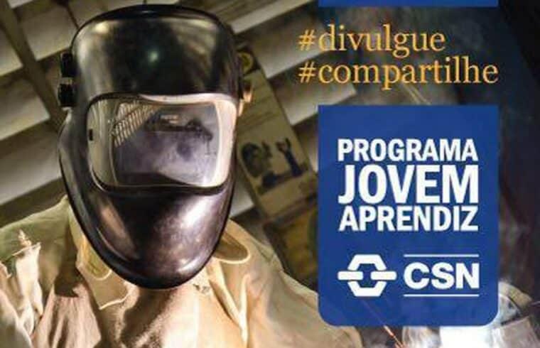 CSN Volta Redonda em parceria com o Senai abre 178 vagas para curso Jovem Aprendiz neste dia, 20