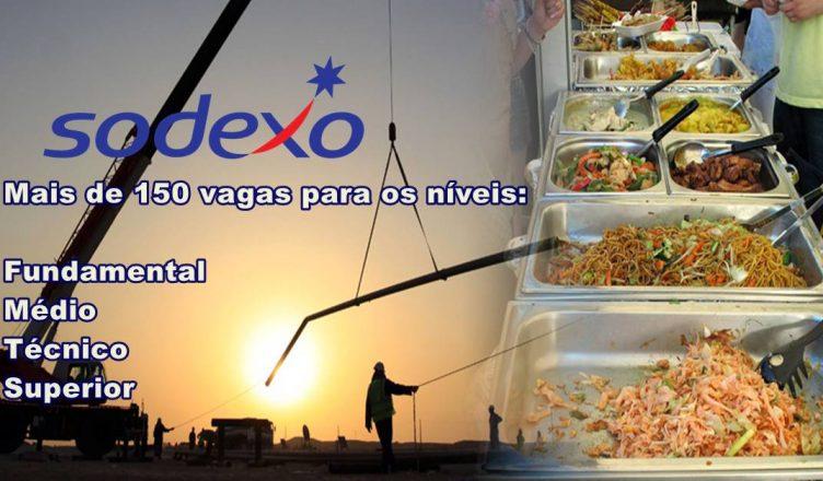 Mais de 150 vagas de emprego para atender demanda de contratos em todo o Brasil da multinacional Sodexo