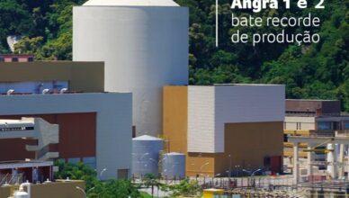 Energia nuclear atinge recorde de geração no Brasil, usinas Angra 1 e 2 tiveram em 2019 o melhor ano de sua históriaação no Brasil, Angra 1 e 2 tiveram em 2019 o melhor ano de sua história