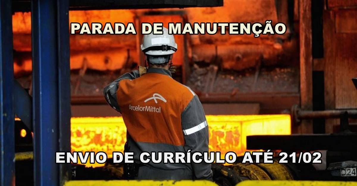 Vagas de emprego para soldadores, caldeireiros, técnicos e mecânicos em parada de manutenção da Arcelor Mittal