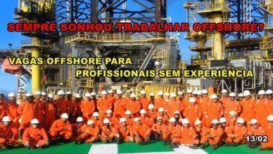 Vagas de emprego URGENTE para Técnicos e Mecânicos sem experiência em terceirizada offshore
