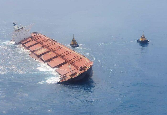 Navio de carga de minérios da Vale é danificado e pode naufragar na costa do Maranhão