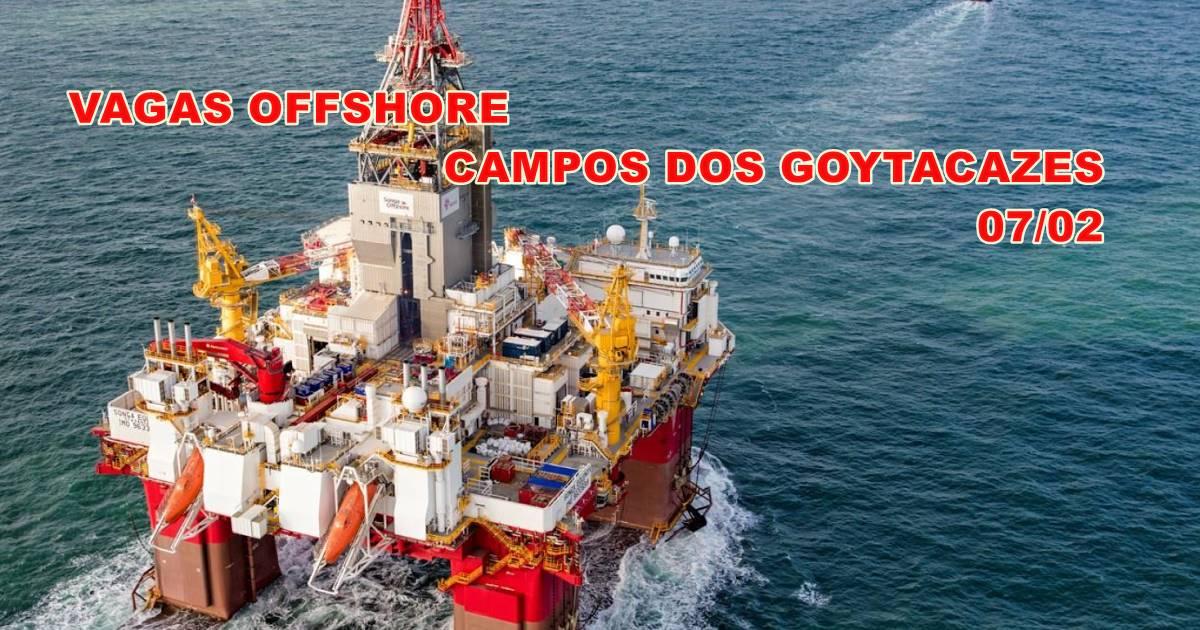 Muitas vagas de emprego para atender projetos offshore em empresa de perfuração