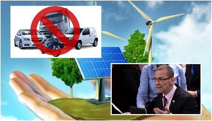Veículos energia renováveis Senado diesel e gasolina
