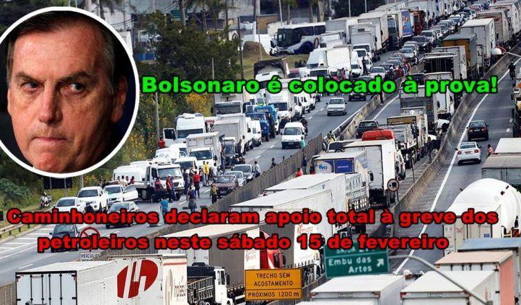 Caminhoneiros declaram apoio total à greve dos petroleiros