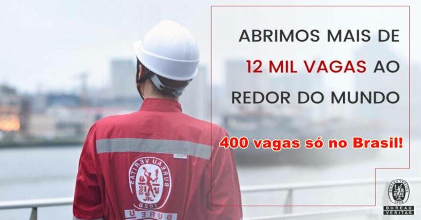400 vagas de emprego em várias regiões e em diversos setores para trabalhar na multinacional francesa Bureau Veritas