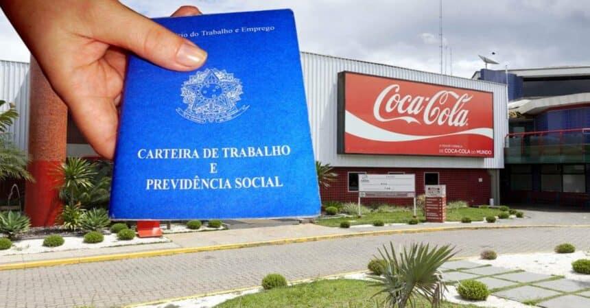 Mais de 40 vagas de emprego na multinacional americana Coca-Cola de ensino fundamental, médio e superior