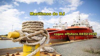 Vagas Offshore para profissional Marítimo no Rio de Janeiro