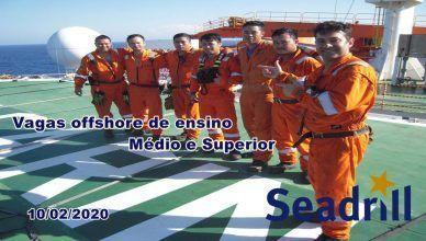 Vagas de emprego anunciadas pela Seadrill para atender projetos offshore no Rio de Janeiro