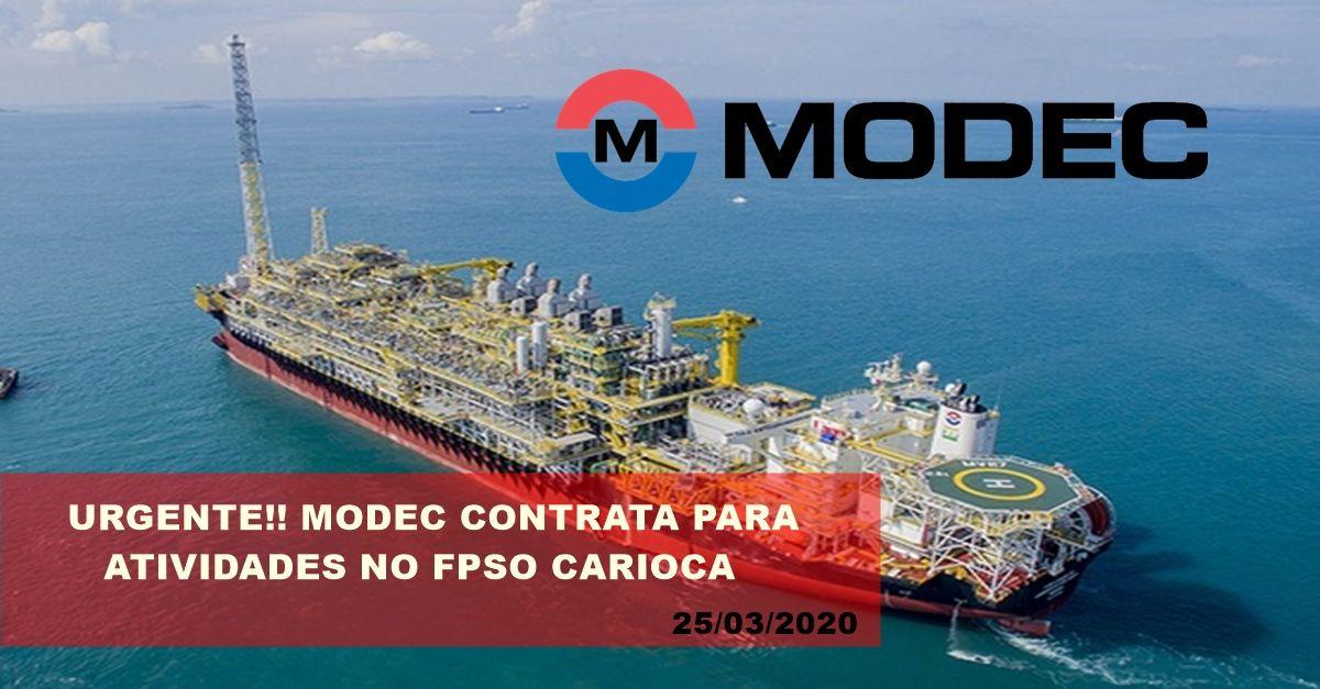 Modec iniciou ontem 24 de março, vagas de emprego de ensino médio para atividades no FPSO Carioca