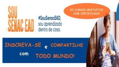 Senac EAD oferece 20 cursos gratuitos totalmente a distância com certificado; veja como se inscrever
