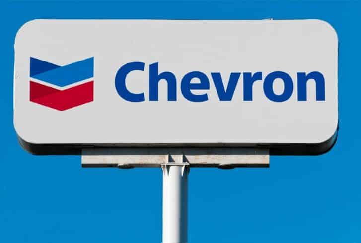 chevron, petróleo, petroleira
