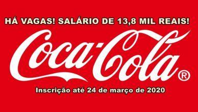 Coca-Cola abre vagas para profissionais sem experiência em seu programa de trainee, salário de 13,8 mil reais!