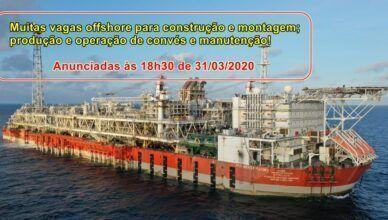 Novo projeto de óleo e gás Engeman Macaé demanda muitas vagas de emprego, em quase todas as funções divulgadas nesta noite, 31 de março