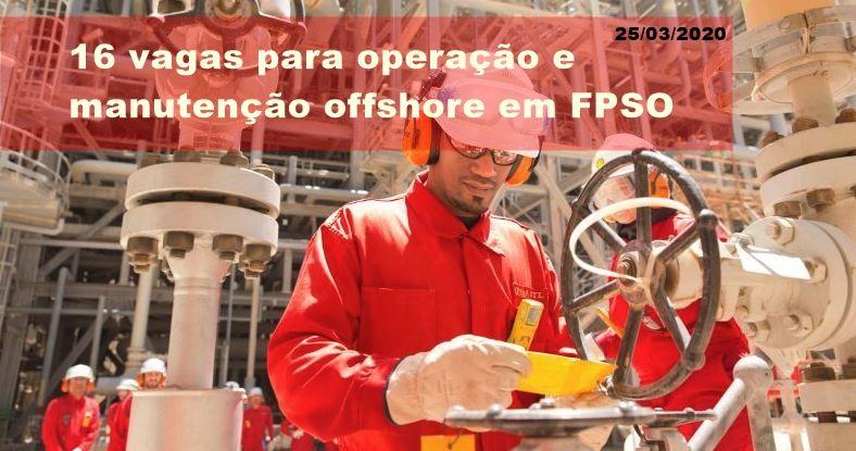 16 vagas de ensino médio e superior para operação e manutenção offshore abertas ontem (24) pela Wood Group