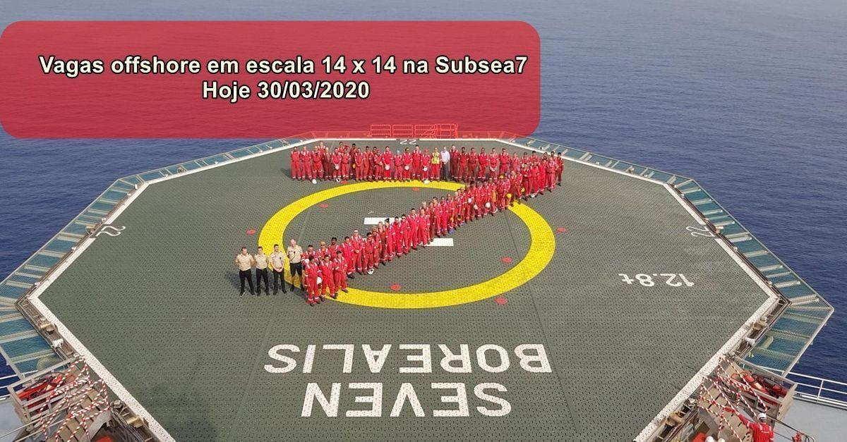 Multinacional Subsea 7 iniciou processo seletivo para vagas offshore em escala 14 x 14 no Rio de Janeiro na última sexta-feira, 27