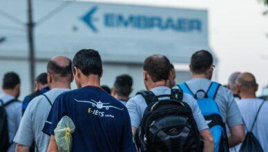 Embraer estende a partir de hoje afastamento de funcionários das fábricas no Brasil com férias coletivas