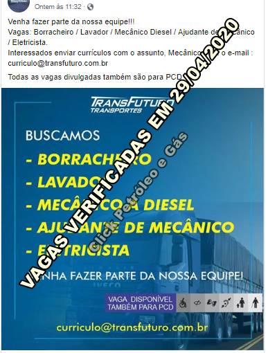 Processo seletivo hoje (29) para ajudante, mecânico, eletricista, borracheiro e mais em empresa de transportes no Rio de Janeiro