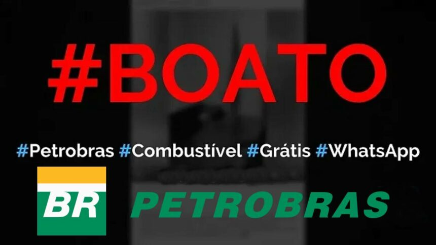 Informação de que Petrobras oferece combustível de graça é golpe