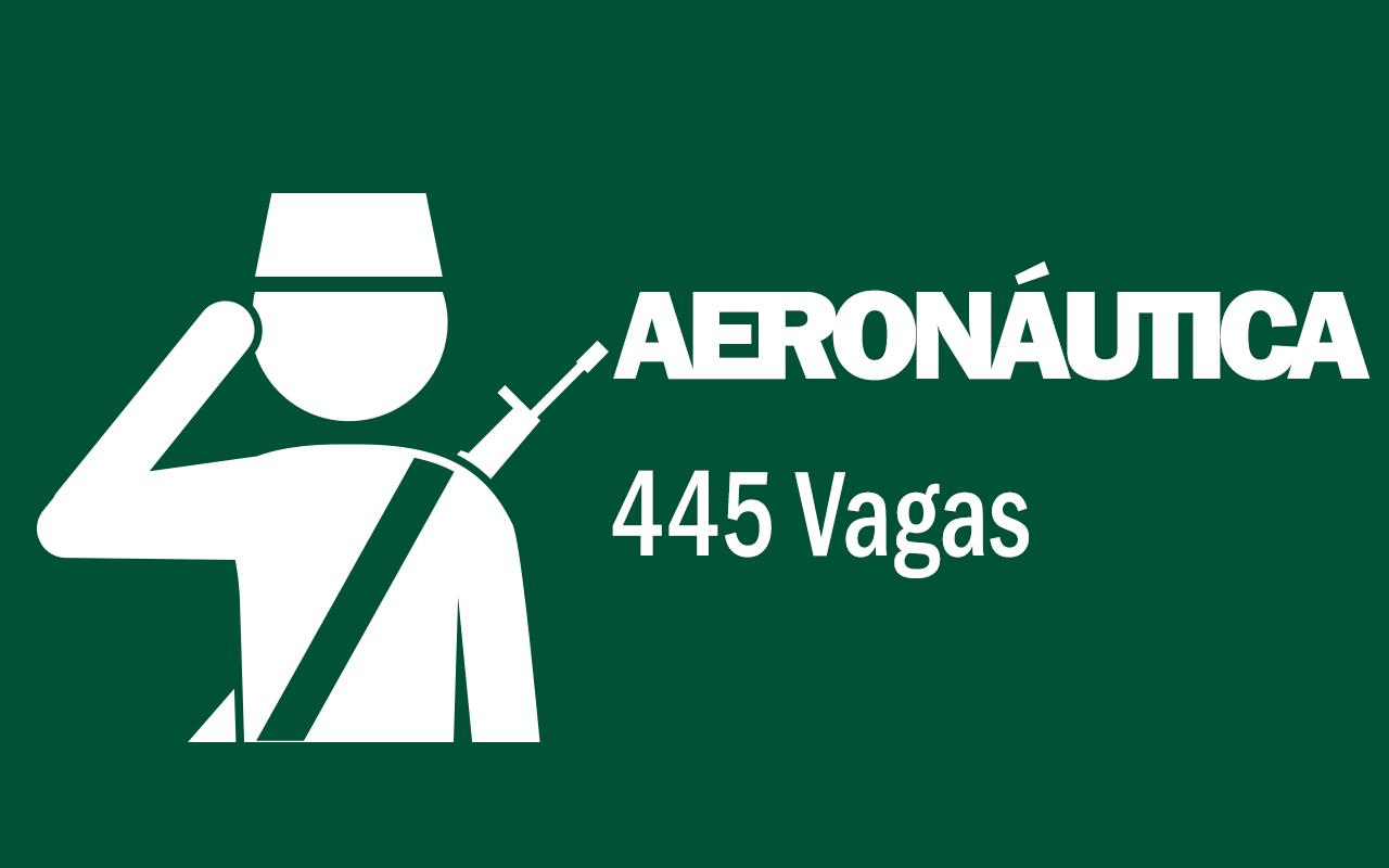 Aeronáutica abriu ontem (13) 445 vagas de nível médio e superior; salário de até R$7.315