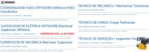 modec 12 de maio, vagas de emprego, offshore, técnicos, modec