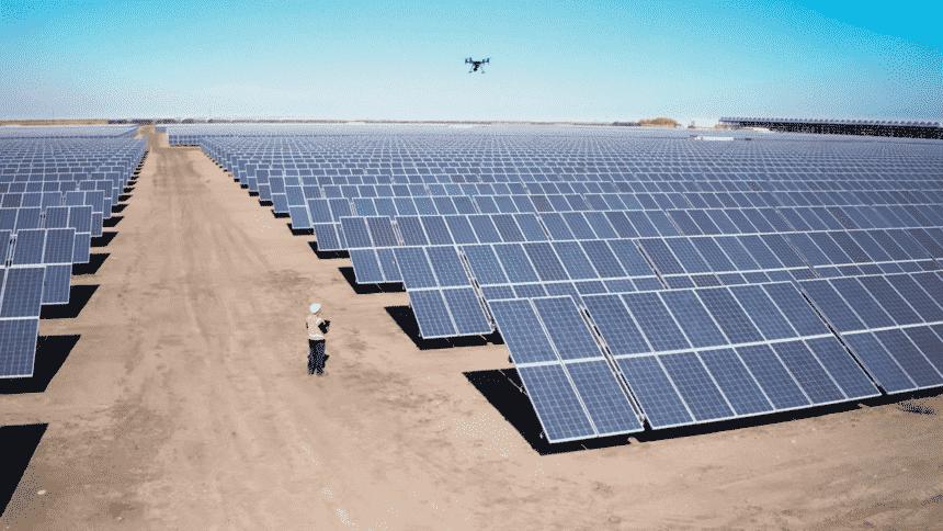 drones, inspeção de placas, energia solar, geração solar,