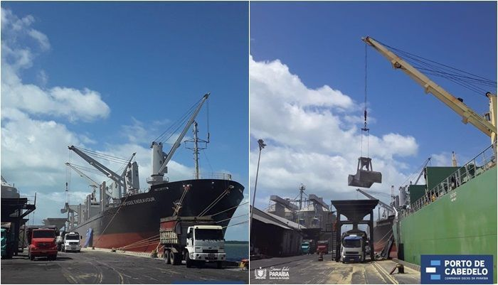 Ambev navio Paraiba Porto Cabedelo Malte