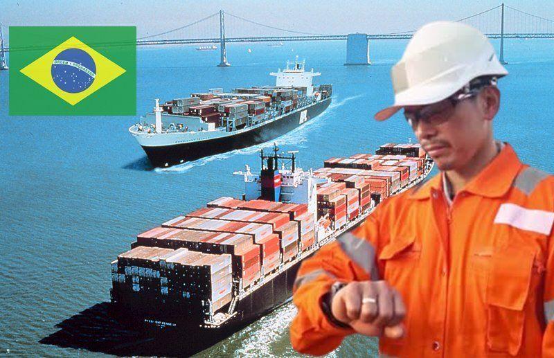 Brasil cabotagem navios empregos BR do Mar