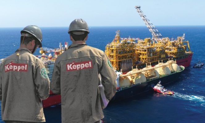 Construção naval navios estaleiros Keppel gás FPSO