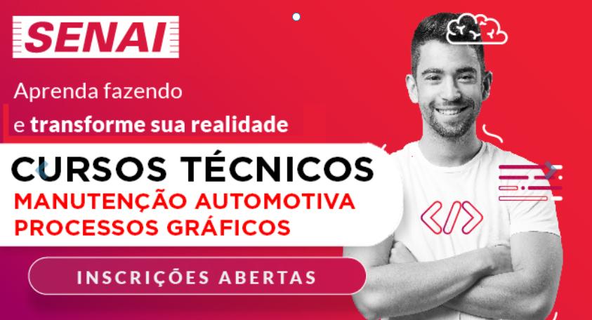 Senai está com inscrições abertas para 80 vagas para cursos técnicos gratuitos em Bauru, São Paulo