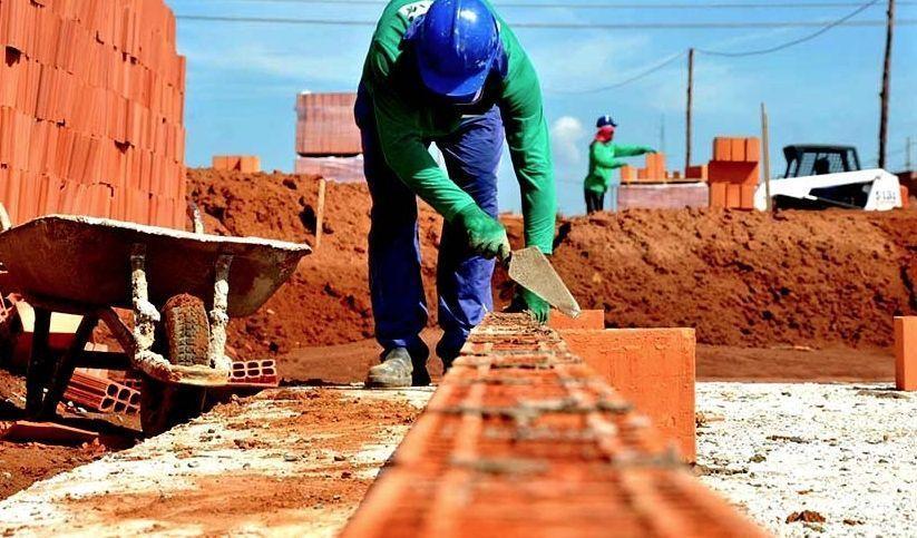 construção civil, Minas Gerais, Tocantins, emprego