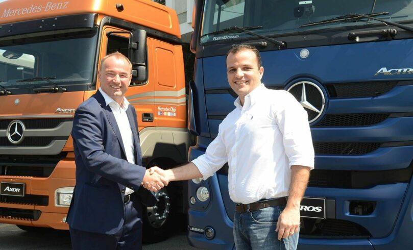 Ambev compra frota de caminhões Mercedes