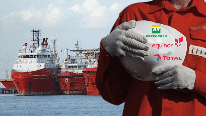 Petrobras Equinor Total embarcações navio offshore petrolífera