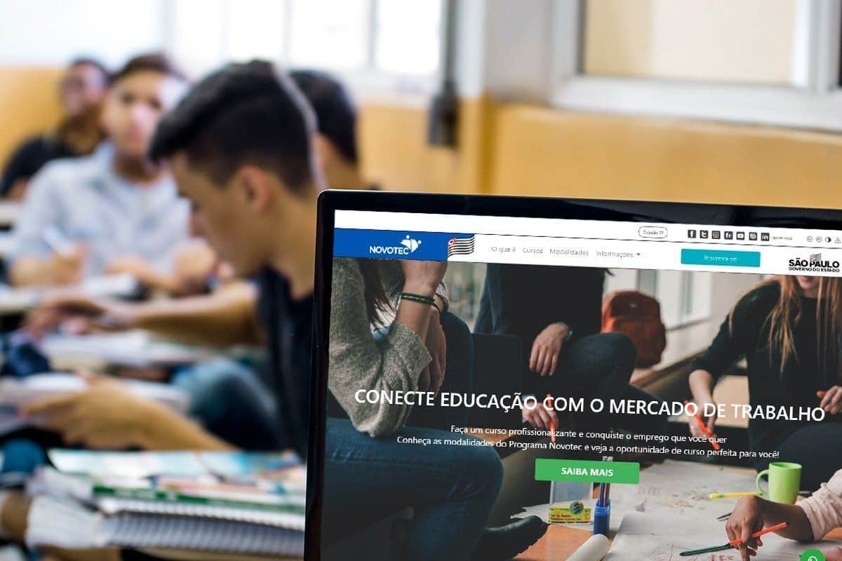 Inscrições abertas para 9 mil vagas em cursos gratuitos e online pra qualificação profissional oferecidos pelo programa Novotec