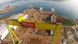 Estaleiro Enseada que será base da construção de dois navios porta contêineres na Bahia recebe visita do presidente da Petrocity