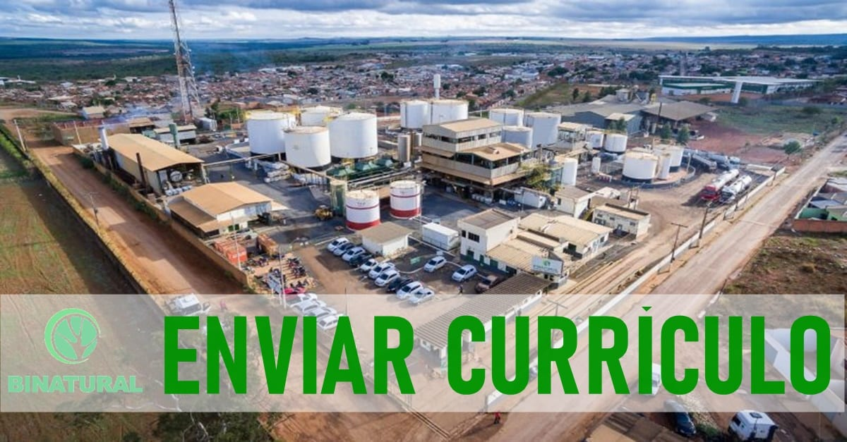 Captação de currículo para atender nova unidade de biodiesel da Binatrural em Simões Filhos, na Bahia. Confira todos os cargos convocados pela empresa